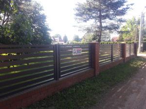 Przęsła ogrodzeniowe z aluminum
