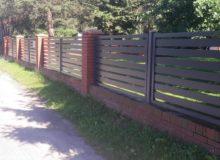 Nowoczesne ilekkie ogrodzenie aluminiowe. Malowane proszkowo, odporne nakorozję.